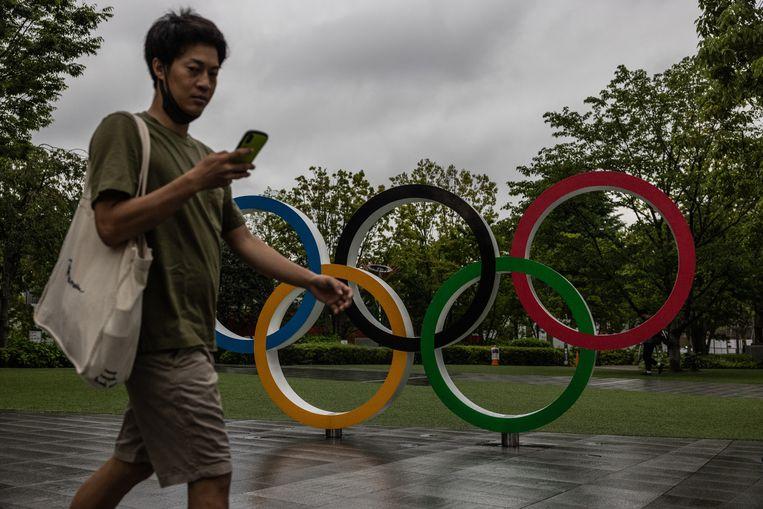 Vorige maand bleek uit een peiling dat 80 procent van de Japanners tegen de Olympische Spelen is. Beeld Getty Images
