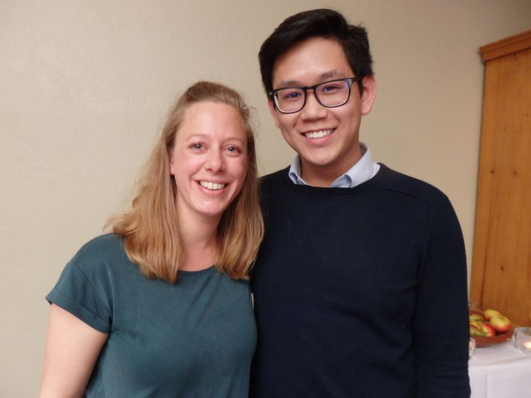 Lisette Jaspers en Tim Nguyen, van XLS Medical. Helpt tot drie keer meer gewicht verliezen. Beeld Schuim