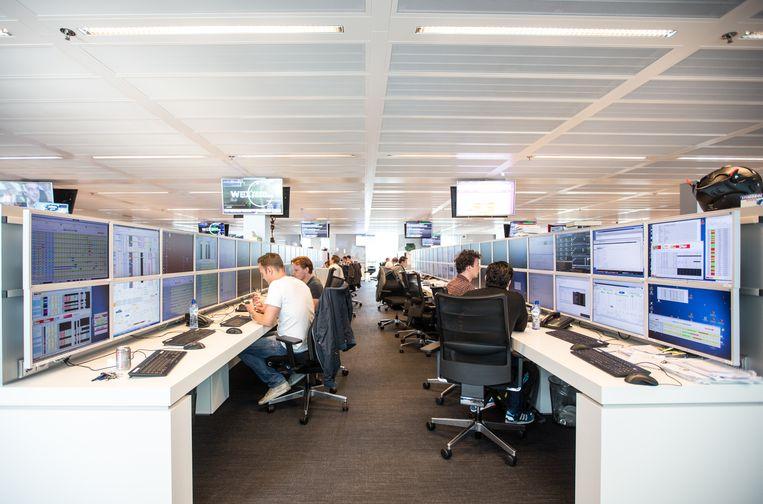 Het kantoor van Flow Traders in Amsterdam. Beeld Eva Plevier