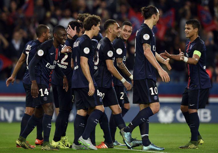 De Parijzenaars winnen van Toulouse. Beeld afp