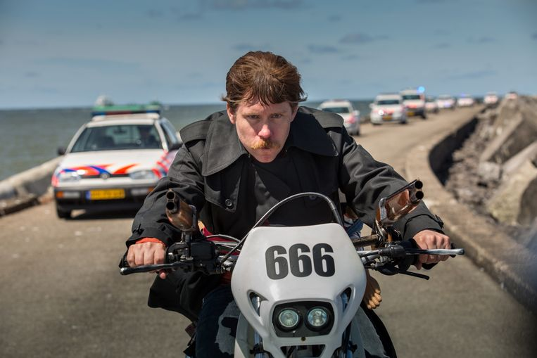 Tim Haars in 'Ron Goossens, Low-Budget Stuntman'. Beeld RV