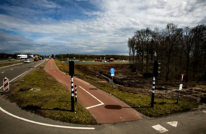 bomenkap naast de N2 thv Novotel Eindhoven