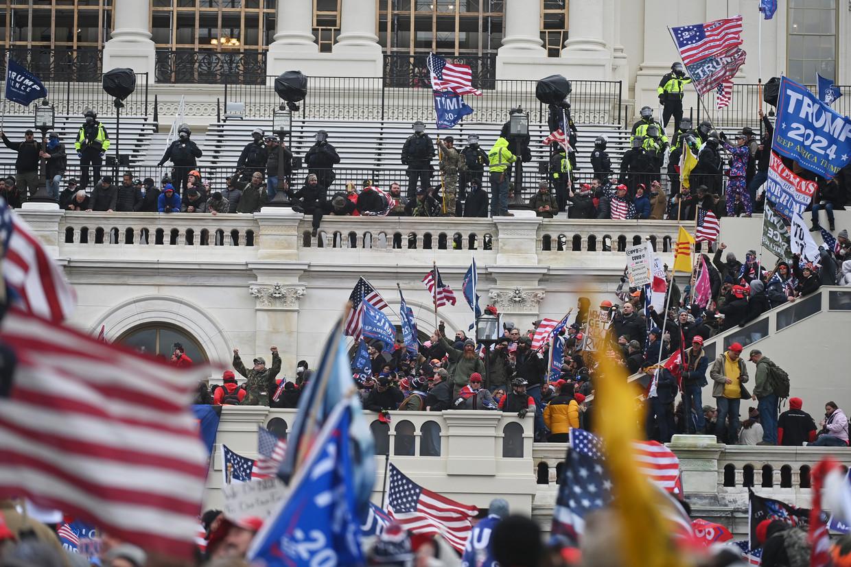 Trump-aanhangers bestormden het Capitool op 6 januari Beeld The Washington Post via Getty Im