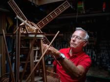 Paul bouwde een opengewerkte korenmolen: 'En alles werkt'