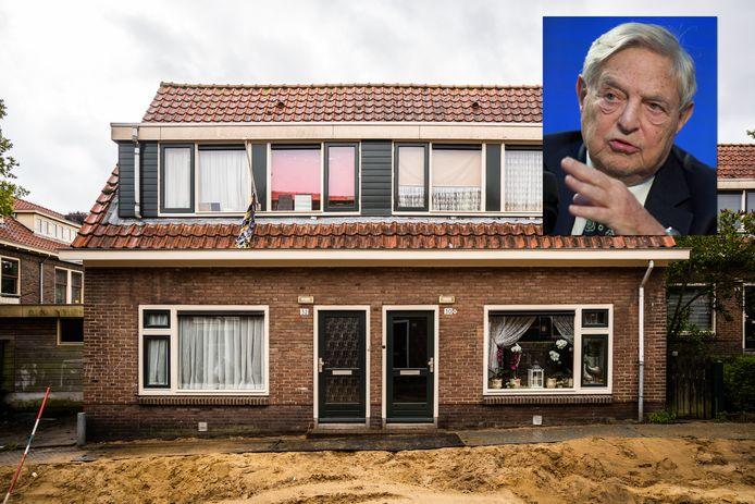 Een van de woningen in de Geitenkamp in Arnhem. Inzet: George Soros.