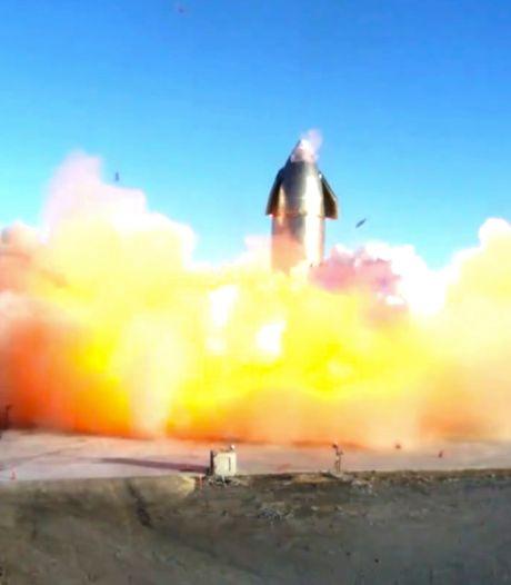 Prototype van Starship SpaceX explodeert bij landing na test