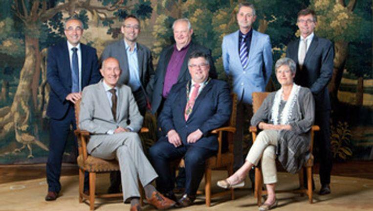 De burgemeester en zijn wethouders. Beeld Gemeente Nijmegen