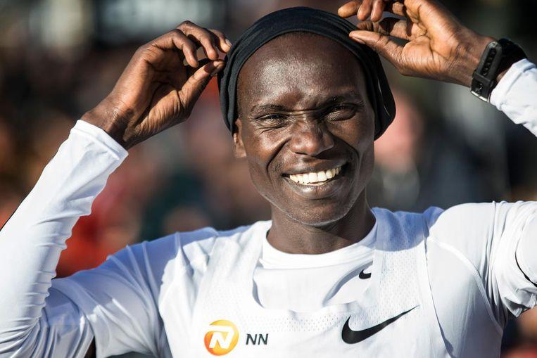Joshua Cheptegei aan de start van de Zevenheuvelenloop afgelopen jaar. Beeld anp