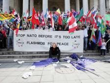 Un flashmob à Bruxelles contre le sommet de l'OTAN