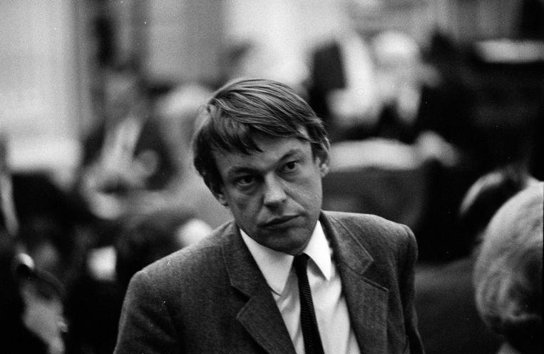 Hans van Mierlo in de Tweede Kamer in 1968. Beeld Hollandse Hoogte /  ANP