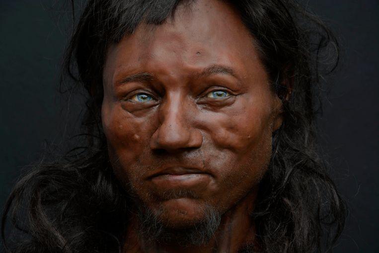 Cheddar Man, de oervader van de Britten, zoals gereconstrueerd door de broers Kennis. Beeld Kennis&Kennis