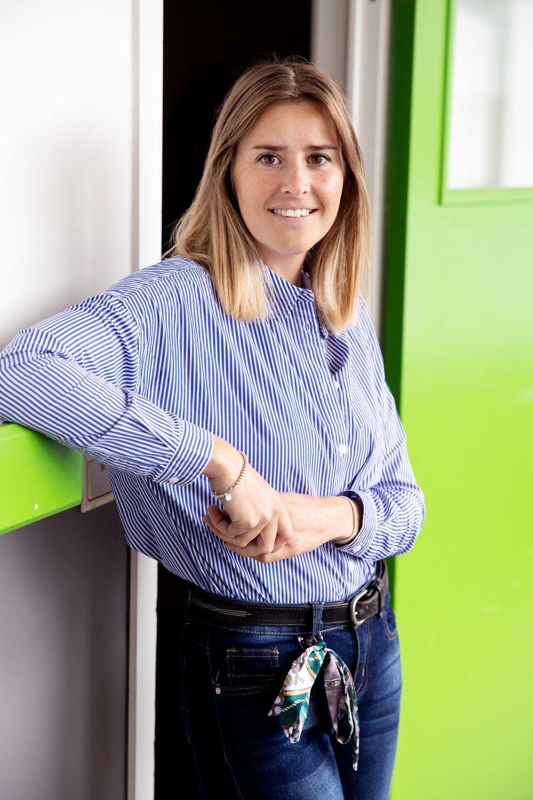 Alexandra Vandergeeten: 'Via Strava kon ik volgen hoeveel kilometers mijn leerlingen hadden afgelegd.' Beeld Guy Kokken