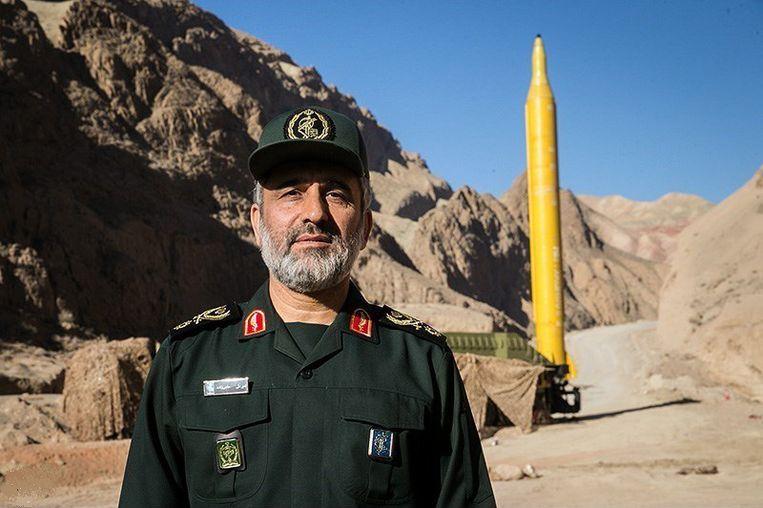 Amirali Hajizadeh, de bevelhebber van de lucht- en ruimteafdeling van de Iraanse Revolutionaire Wacht. Beeld Wikimedia Commons