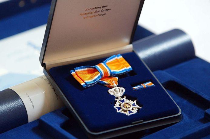 Een koninklijke onderscheiding, behorenden bij de Orde van Oranje-Nassau. (Archieffoto).
