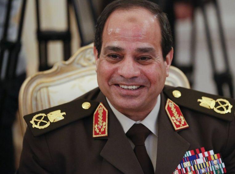 Legerleider Abdel Fattah al-Sisi. Beeld ap