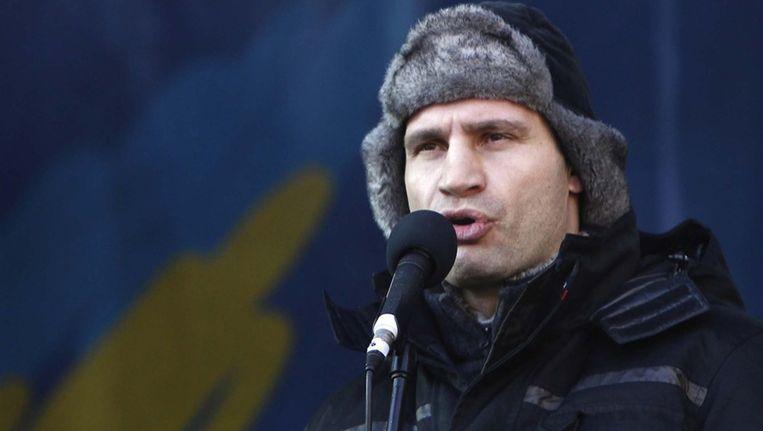 Voormalig bokser en burgemeester van Kiev Vitali Klitsjko.
