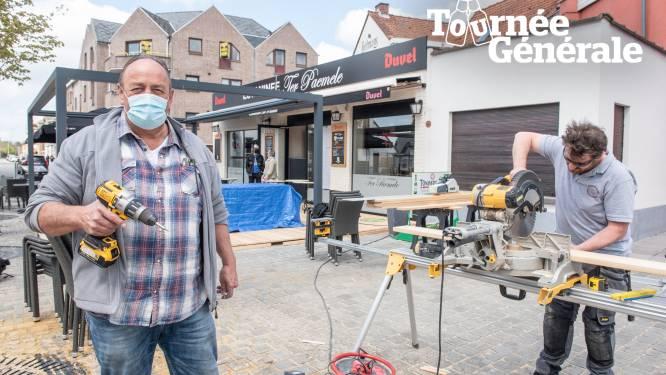 """Nog snel timmeren aan nieuw terras voor Estaminee Ter Paemele: """"Hopelijk nu voor goed vertrokken"""""""
