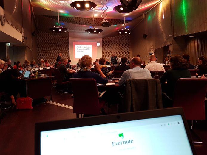 De Eindhovense gemeenteraad, in vergadering bijeen, op een archieffoto.