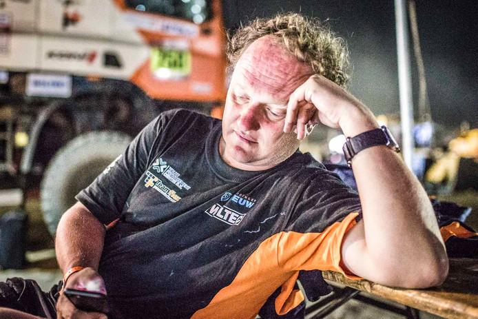 Marc Leeuw had er goed de pee in na zijn diskwalificatie.