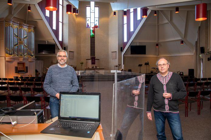 Predikanten Henk Jansen (GK Ermelo) en André Priem (Westerkerk).