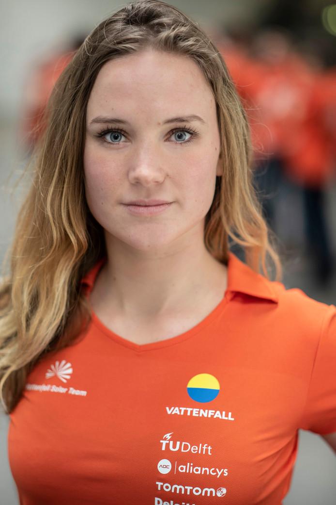 Maud Diepeveen uit Zwolle leidt het Solar Team van de TU Delft