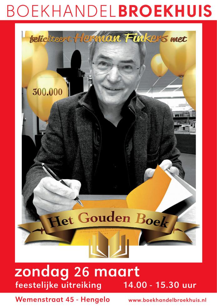 Herman Finkers Ontvangt Gouden Boek In Hengelo Enschede