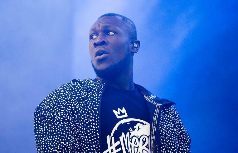 Brits grime-talent Stormzy speelt om 20.10 uur in de Dance Hall.  Beeld Photo News