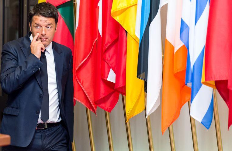 De Italiaanse premier Matteo Renzi. Beeld AP