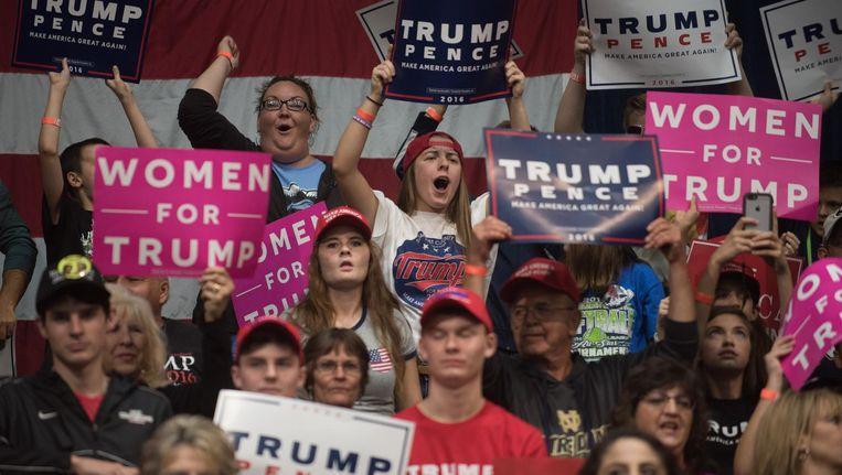 Trumps trouwste fanschare bestaat uit de witte onderklasse en de lagere witte middenklasse. Beeld afp