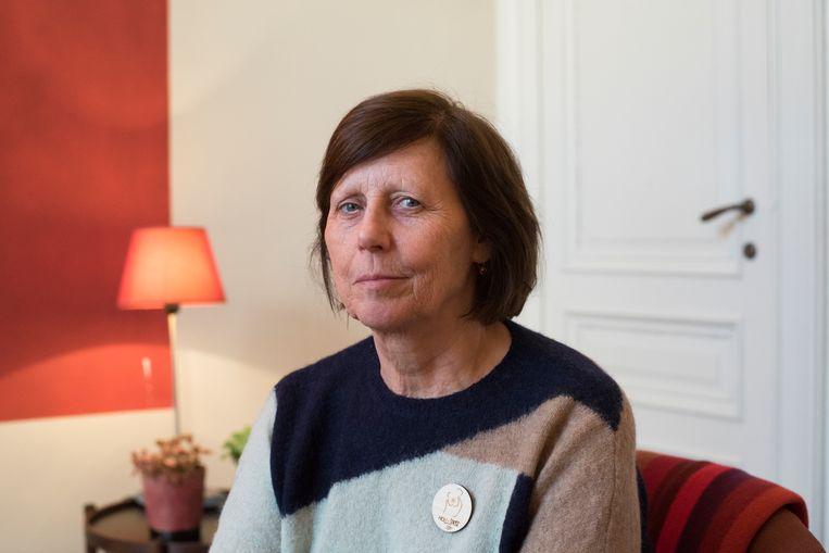 Ingrid De Jonghe van Therapie voor Jongeren (TEJO). 'Ook de samenleving heeft de verantwoordelijkheid om jongeren te helpen. Het is een soort van altruïsme dat iedereen in zich zou moeten hebben.' Beeld Tiene Carlier