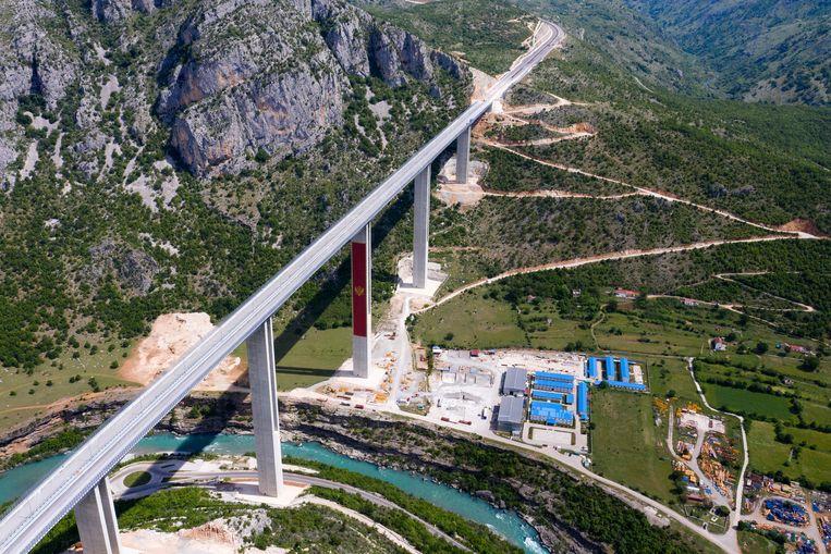 De snelweg zou van Bar, aan de kust, via Podgorica naar Servië lopen. Beeld Hollandse Hoogte/AFP