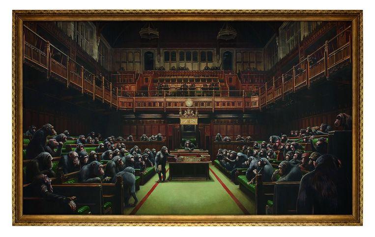 'Devolved Parliament' van Banksy. Beeld Sotheby's