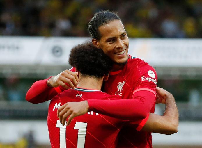 Mohamed Salah en Virgil van Dijk.