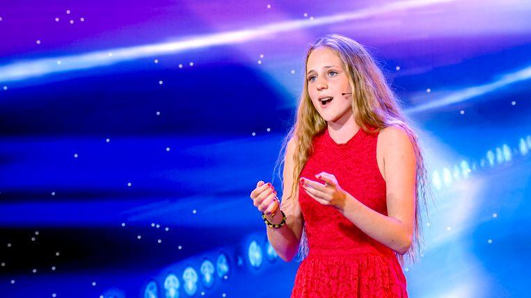 Camille tijdens haar auditie voor Belgium's Got Talent