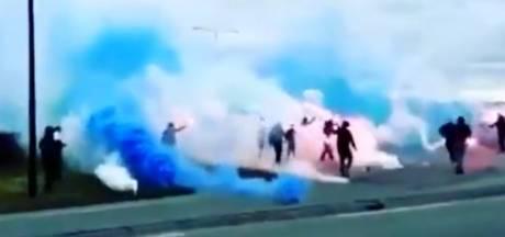 PEC Zwolle-supporters zetten afrit bij Almelo onder blauw-witte rook in aanloop naar duel tegen Heracles