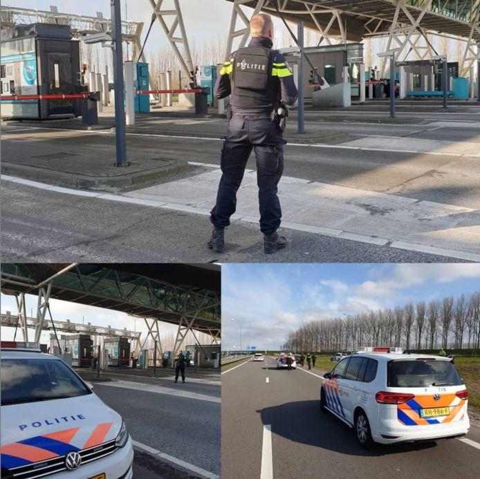 De politie stond het tweetal op te wachten aan de andere kant van de Westerscheldetunnel