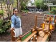 Kimberly liet een peuter- en kleuterhoek installeren buiten, ideaal voor gezinnen met kinderen die de komende dagen eens willen afzakken naar De Sopraan.