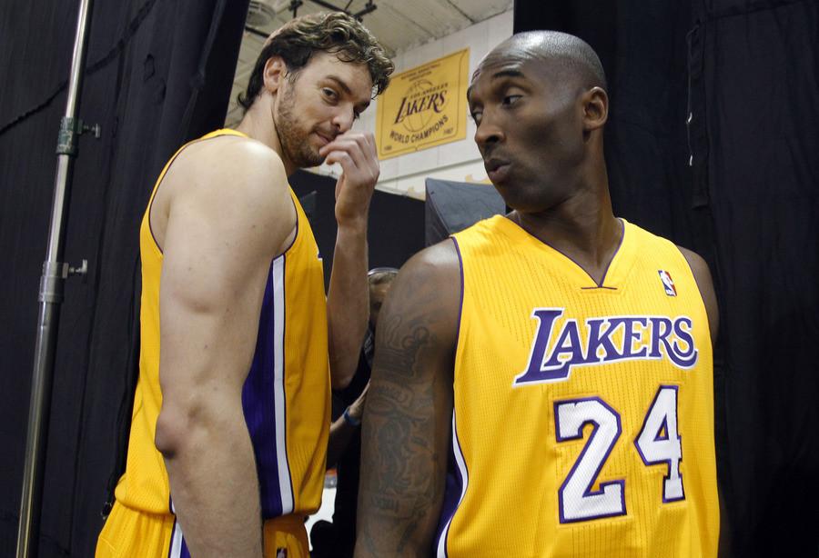 Paul Gasol en Kobe Bryant.