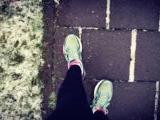 Still running, ook in de sneeuwdrab