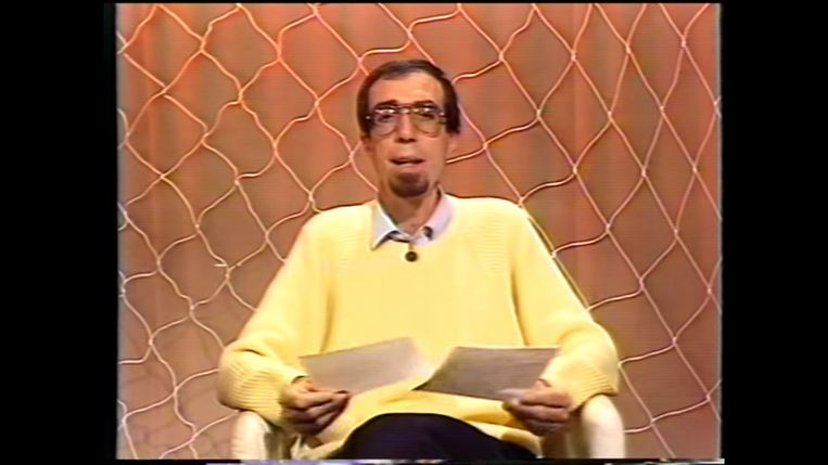 Ivan Sonck, volgens Uytterhoeven de eerste die humor in in het promma stak. Beeld één