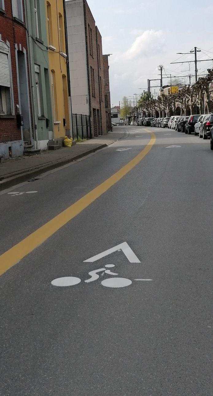 De Treinstraat is een fietsstraat.