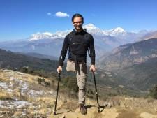 Bas van der Voort uit Maren-Kessel trotseert Nepalese bergen op 1 been