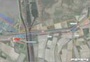 Het tracé van de 380kV-lijn tussen station Rilland en het knooppunt Markiezaat