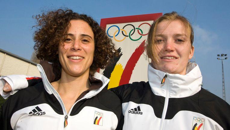 Eva Willemarck en Elfje Willemsen. Beeld BELGA