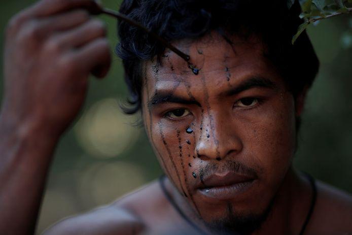 De vrijdag vermoorde indianenleider en natuurbeschermer Paulo Paulino Guajajara.
