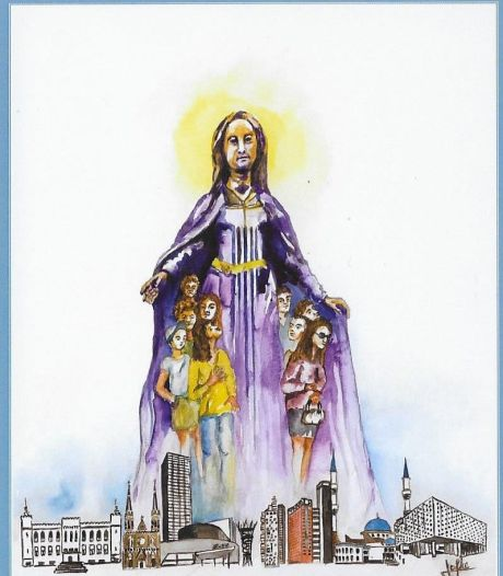 Maria slaat mantel om Tilburg: devotieprentje in tijden van corona