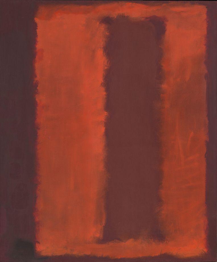 Het ongetitelde rode doek dat Mark Rothko voor zijn dood maakte. Beeld