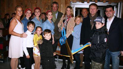 Katrien Pauwels schaatst piste op Dorpsplein in