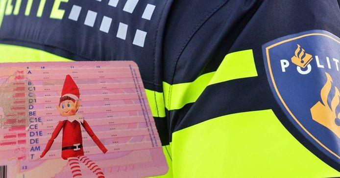 Het was al de elfde keer dat de bestuurder is aangehouden zonder rijbewijs, dus de Lelystadse politie maakte deze fotobewerking met een elfje op een rijbewijs.