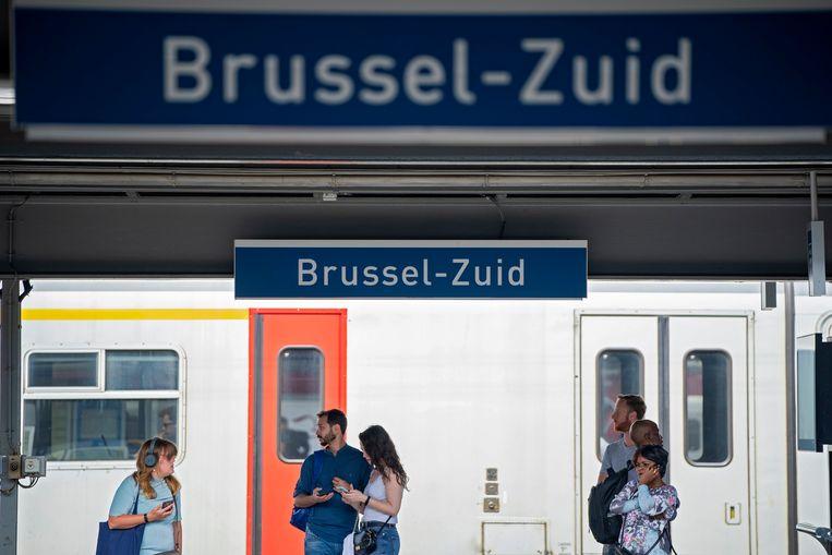 Station Brussel-Zuid. Beeld Photo News